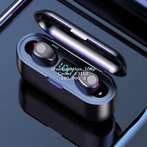 Tai nghe Bluetooth AMOI F9 bản QUỐC TẾ nút cảm ứng Bluetooth 5.0 Pin 280 giờ tích hợp sạc dự phòng 1 đổi 1 trong 30 ngày
