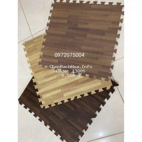 Thảm xốp vân gỗ lót sàn không mùi dày 1cm hàng VN siêu đẹp