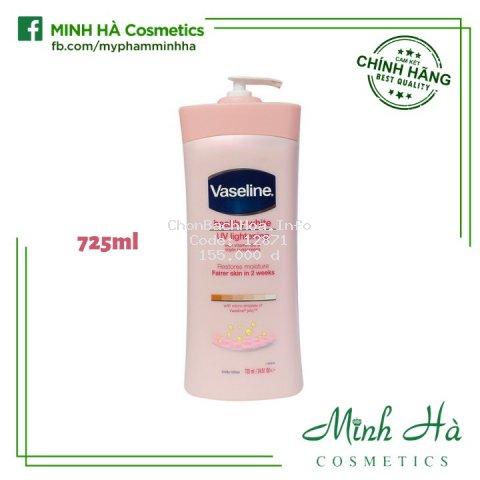 [USA] Sữa dưỡng thể Vaseline Healthy White UV Lightening Body Lotion 725ml