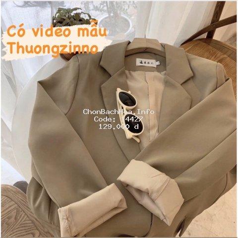 [Ảnh thật/ Video] Áo blazer túi hộp nhiều màu hiện đại 2 lớp phong cách Hàn Quốc  Áo vest khoác ngoài