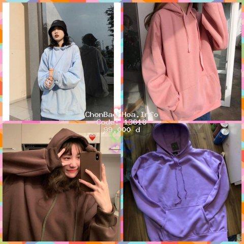 Áo HOODIE BASIC cao cấp, áo nỉ bông trơn ( nhiều màu, nhiều size)