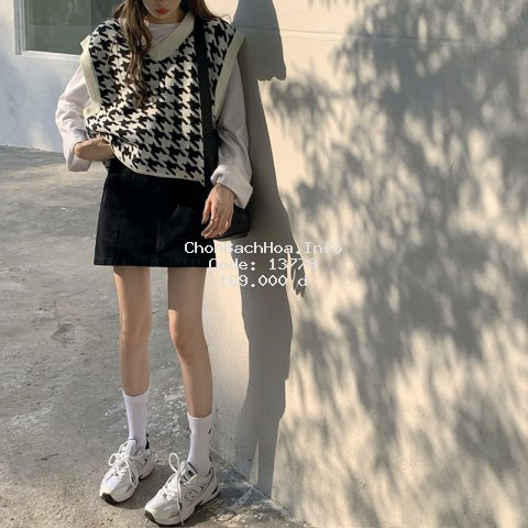 Áo khoác len cổ V phong cách retro Hàn Quốc thời trang cho nữ