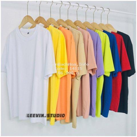 Áo Thun Nam Nữ TRƠN UNISEX form rộng tay lỡ - Kiểu áo phông nữ thun Cotton Leevin Store