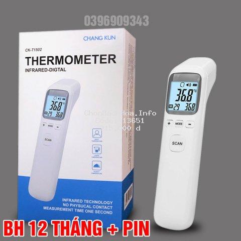 [ BH 12 tháng ] Nhiệt kế điện tử hồng ngoại đo trán Infrared CK-T1803, CKT1502 chính hãng