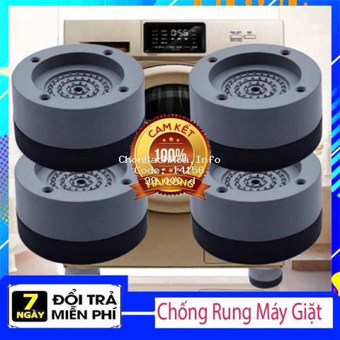 Bộ 4 miếng đệm cao su lót chân máy giặt chống rung chống ồn