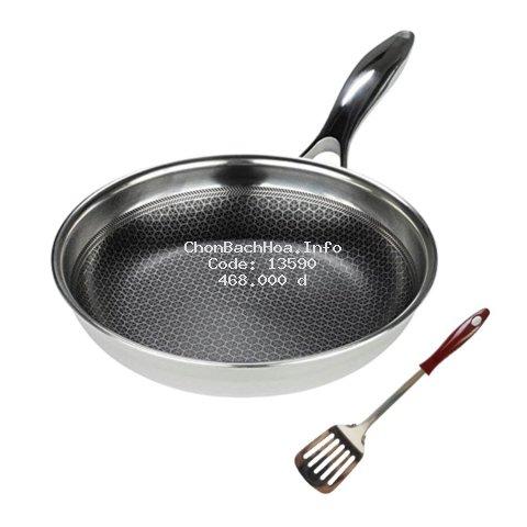 Chảo bếp từ chống dính Blackcube 3 lớp đúc liền  Kims Cook Hàn quốc, chống dính Daikin nhật siêu bền, chiên rán ít dầu