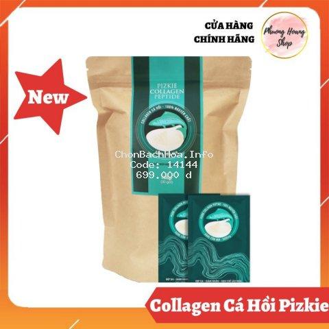 Collagen cá hồi Pizkie Collagen Peptide nhập khẩu từ Nhật Bản ngừa lão hóa trẻ hóa da