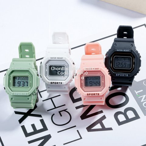Cute and popular women's watch electronic watch for gilrs sdudents