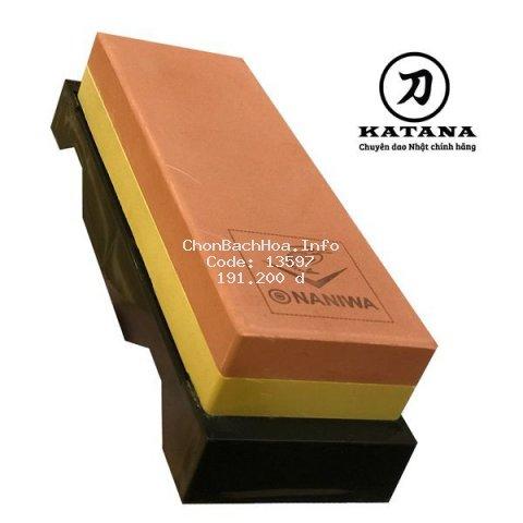 Đá mài dao NANIWA chính hãng CÓ ĐẾ (các loại độ nhám) - đá mài Nhật Bản cao cấp