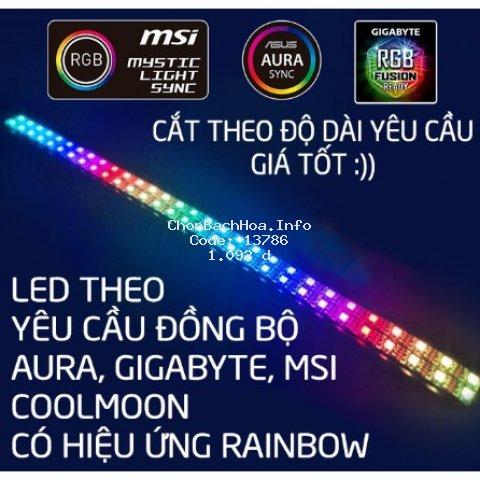 Dây LED Đồng Bộ Main MSI, ASUS, GIGA, ASROCK, COOLMOON - Hiệu Ứng RAINBOW - RGB Và ARGB