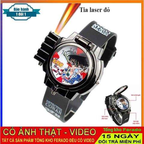 Đồng Hồ đeo tay bé trai Conan có tia laser