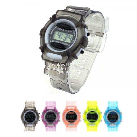 Đồng hồ điện tử thể thao chống nước cho bé