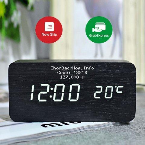 Đồng hồ gỗ, đồng hồ led để bàn chữ nhật