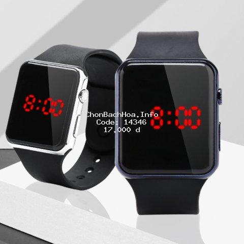 Đồng hồ thời trang nam nữ LED phong cách hàn quốc, mặt chữ nhật hiện đại sang trọng ( Mã: ADT02 )