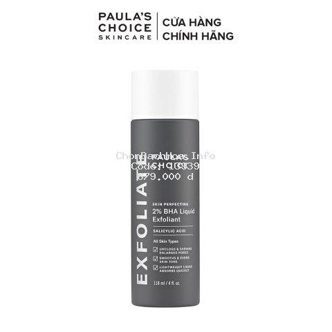 Dung dịch loại bỏ tế bào chết Paula's Choice Skin Perfecting 2% BHA Liquid Exfoliant 118 ml Mã 2010