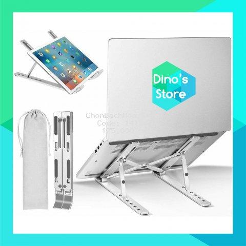 Giá đỡ Laptop - giá kê Laptop MacBook bằng nhôm điều chỉnh độ cao theo nhu cầu sử dụng
