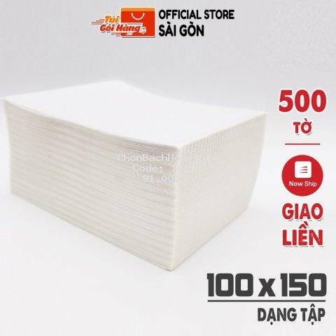 Giấy In Nhiệt TUIGOIHANG Khổ A6 100x150mm Dạng Tập 500 Tờ In Đơn Shopee Có Sẵn Lớp Dán