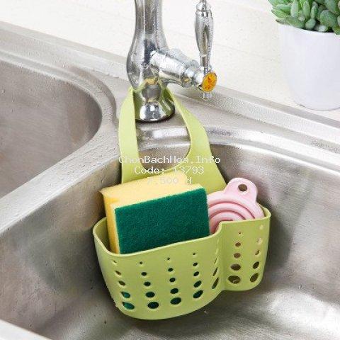 Giỏ nhựa treo bồn rửa chén