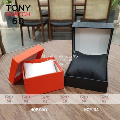 Hộp giấy đựng đồng hồ cứng cáp chống va đập Tony Watch 68 màu ngẫu nhiên