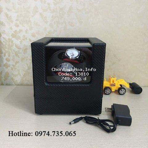 Hộp xoay đồng hồ 4 chế độ xoay - Mở lắp tự dừng - Có đèn led. Hộp đựng đồng hồ cơ, lên dây cót đồng hồ cơ