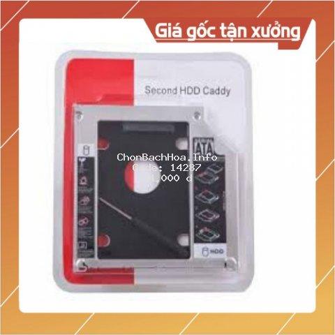 [Mã ELFLASH2 hoàn 10K xu đơn 20K] Caddy Bay ⚡Free Ship ⚡ SSD SATA 3 9.5mm /12.7mm - Khay ổ cứng thay vị trí ổ DVD