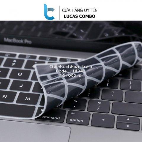 [Mã ELFLASH2 hoàn 10K xu đơn 20K] Lót phím đen Silicon bảo vệ bàn phím Macbook