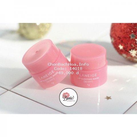 ( Mẫu mới 2019) Mặt nạ môi LANEIGE Lip Sleeping Mask [ Berry] - Mini Size 3gr