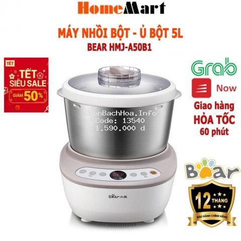 Máy Trộn Bột, Ủ Bột Đa năng, dung tích 5L Bear HMJ-A50B1 (Hàng chính hãng - bảo hành 12 tháng) - HomeMart