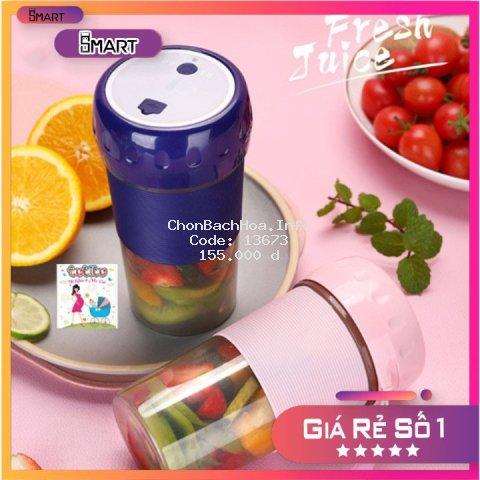 Máy xay sinh tố mini cầm tay đa năng Juice Cup, Fruit Cup 4 lưỡi - Máy Xay Sinh Tố Du Lịch