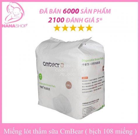 Miếng Lót Thấm Sữa CMBear Bịch 108 Miếng Tiết Kiệm
