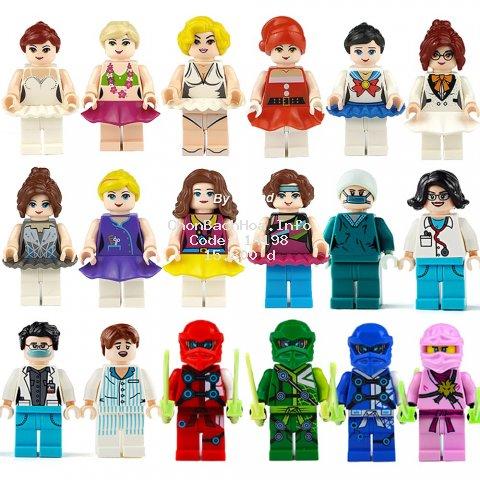 Mô hình lắp ráp lego công chúa bạch tuyết /Anna/Alisa /người cá Ariel dùng làm quà tặng cho bé gái