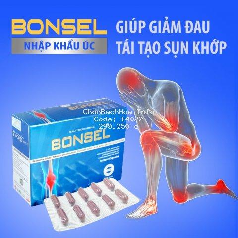 [NHẬP KHẨU ÚC] Viên bổ xương khớp Bonsel, giảm đau, viêm sưng xương khớp – Đau lưng - Tê bì chân tay, nhức mỏi vai gáy