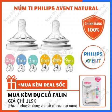 Núm Ti Philips Avent Natural Cổ Rộng