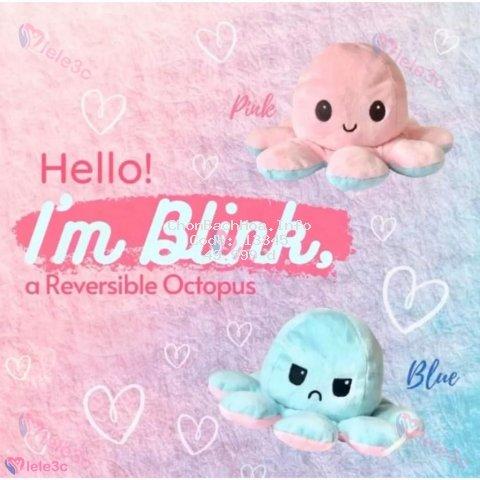 octopus bạch tuộc cảm xúc Bạch Tuộc Nhồi Bông 2 Mặt Cảm Xúc Nhiều Màu Tùy Chọn Kích Thước 20cm