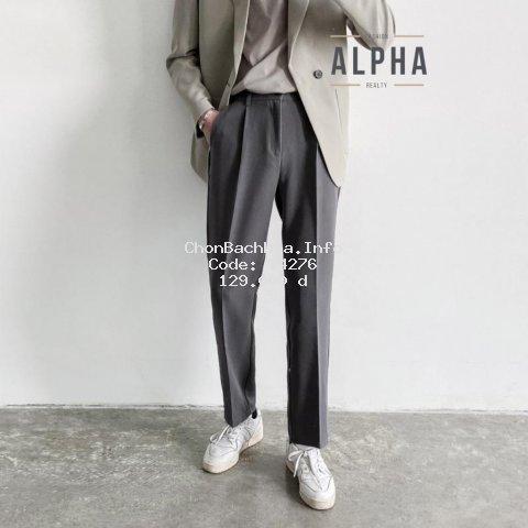 Quần baggy nam phong cách Hàn Quốc (đen,Xám), ống rộng mặc co giãn, phù hợp đi học, đi làm