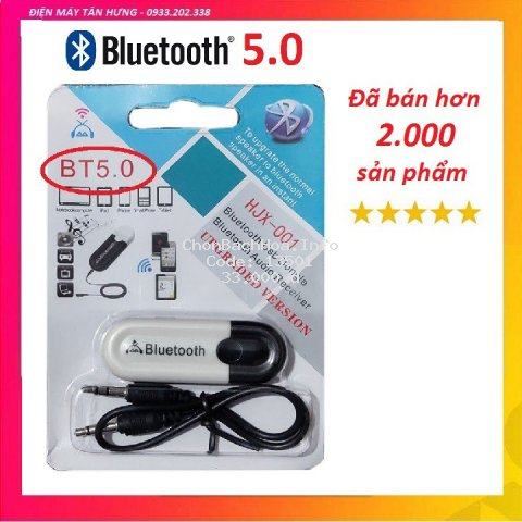 [RẺ VÔ ĐỊCH] USB Bluetooth DONGLE 5.0 & 4.0 HJX 001 loại 1 không nhiễu - dùng cho loa, amply, mixer, equalizer