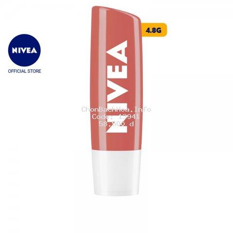 Son dưỡng môi NIVEA sắc cam hương đào Peach Shine (4.8g) - 85031