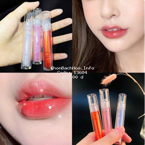 Son môi ánh bóng lấp lánh 8 màu sắc tùy chọn trang điểm tiện dụng