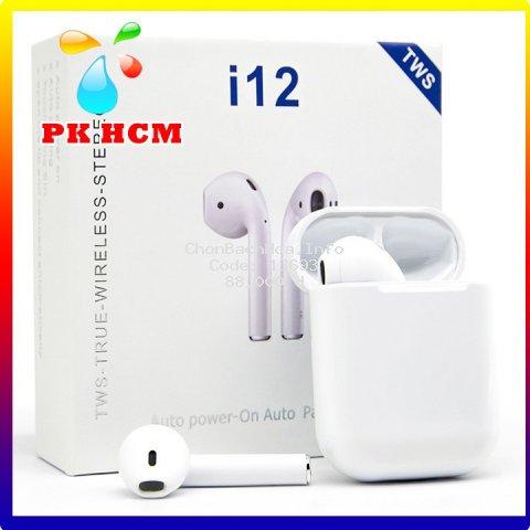Tai nghe không dây bluetooth 5.0 Hifi i12 TWS kèm hộp sạc  phukien_hcm68