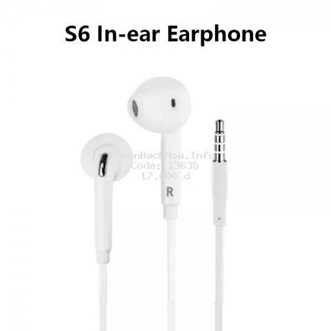 Tai Nghe Nhét Tai Có Dây 3.5mm Kèm Micro Và Điều Khiển Âm Lượng Cho Samsung S6 / S7 Edge Chất Lượng Cao iPhone6s 6Plus
