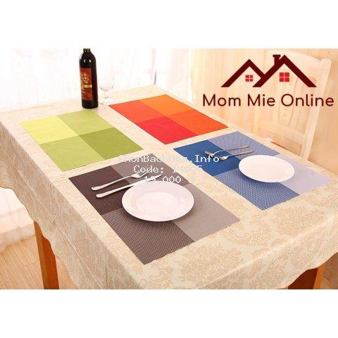 Tấm lót bàn ăn cách nhiệt chống trượt phân màu - L002