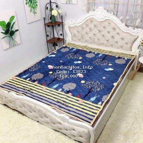 Thảm trải giường lông cừu cao cấp 3 lớp siêu ấm
