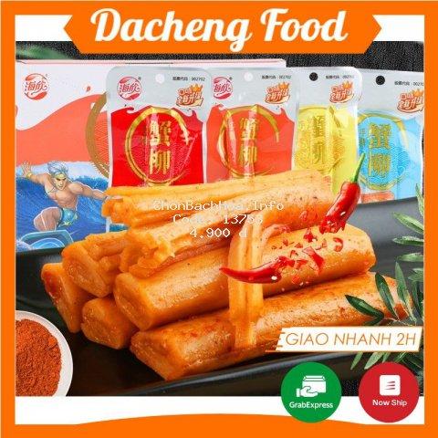Thanh Cua Sốt Cay ❤️FREESHIP❤️ 1 Gói Thanh Cua Cay 15g - Thanh Cua Ăn Vặt Trung Quốc | Dacheng Food