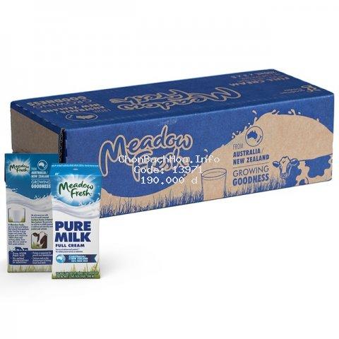 Thùng 24 hộp sữa tươi tiệt trùng Nguyên kem Meadow Fresh 200ml/ hộp