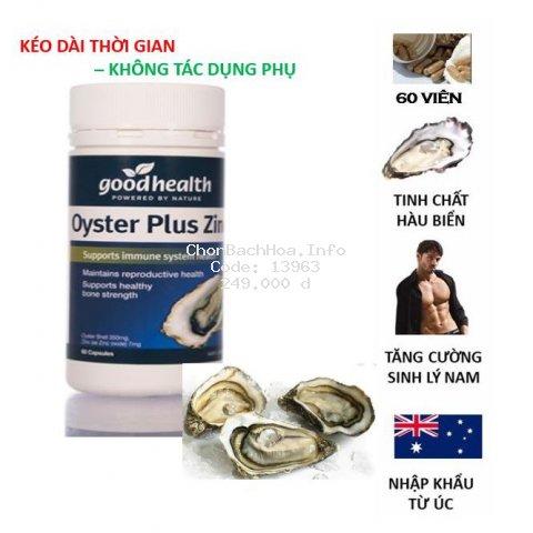 Tinh chất hàu New Zealand Good Health Oyster Plus tăng cường sinh lý nam giới (60 viên/lọ)  | 3wolves