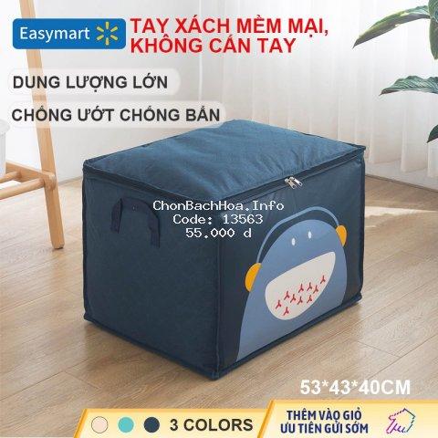 Túi vải không dệt đựng quần áo dày 3 lớp dung tích lớn chống ẩm và chống bám bẩn thoáng khí tốt