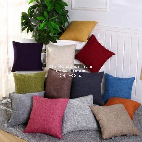 Vỏ gối tựa lưng sofa, vỏ gối tựa vuông 45x45cm