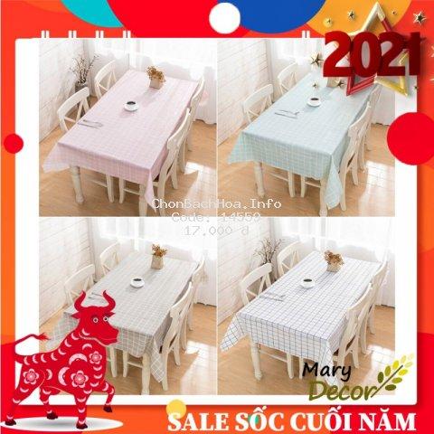 [12 MẪU] Khăn trải bàn caro, nhựa PVC chống thấm nước, khăn trải bàn Decor Hàn Quốc Kiểu Caro - Quán Cafe - Nhà Hàng