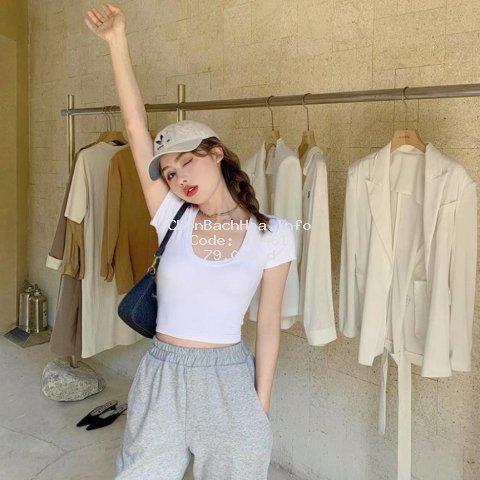 Áo Croptop nữ , có nút, thiết kế trẻ trung năng động. Vải Xịn mặc vào sang, Đẹp, MẪU HOT 2020