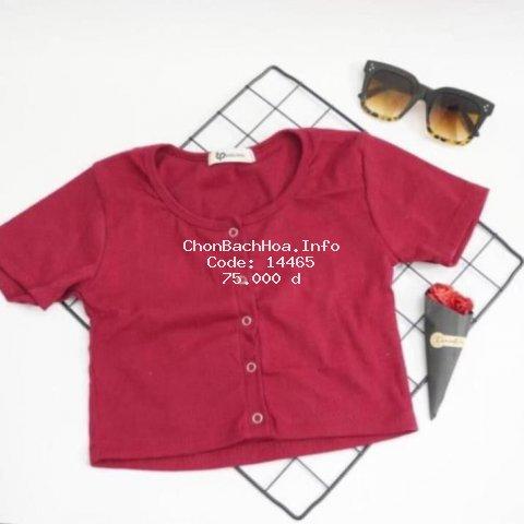 Áo Croptop nữ , có nút, thiết kế trẻ trung năng động. Vải Xịn mặc vào sang, Đẹp